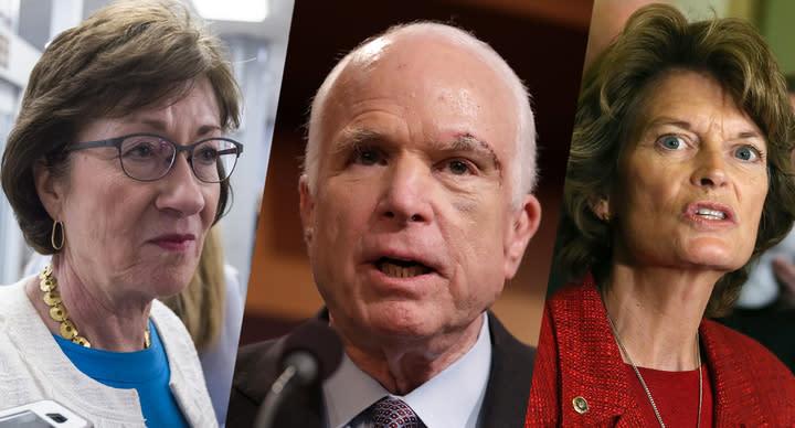 Sen. Susan Collins, Sen. John McCain and Sen.Lisa Murkowski