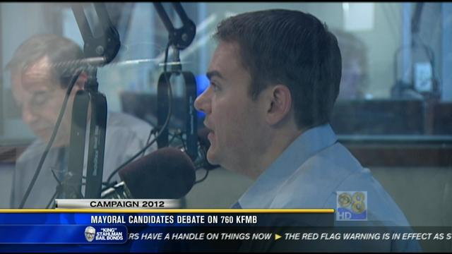 Mayoral candidates debate on 760 KFMB Friday