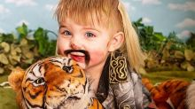 Hey All You Cool Cats and Kittens! This Mom Did a Tiger King-Themed Photo Shoot, and It's Outrageous