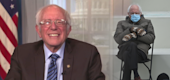 "Sen. Bernie Sanders on Thursday's ""Late Night With Seth Meyers."" (NBC)"