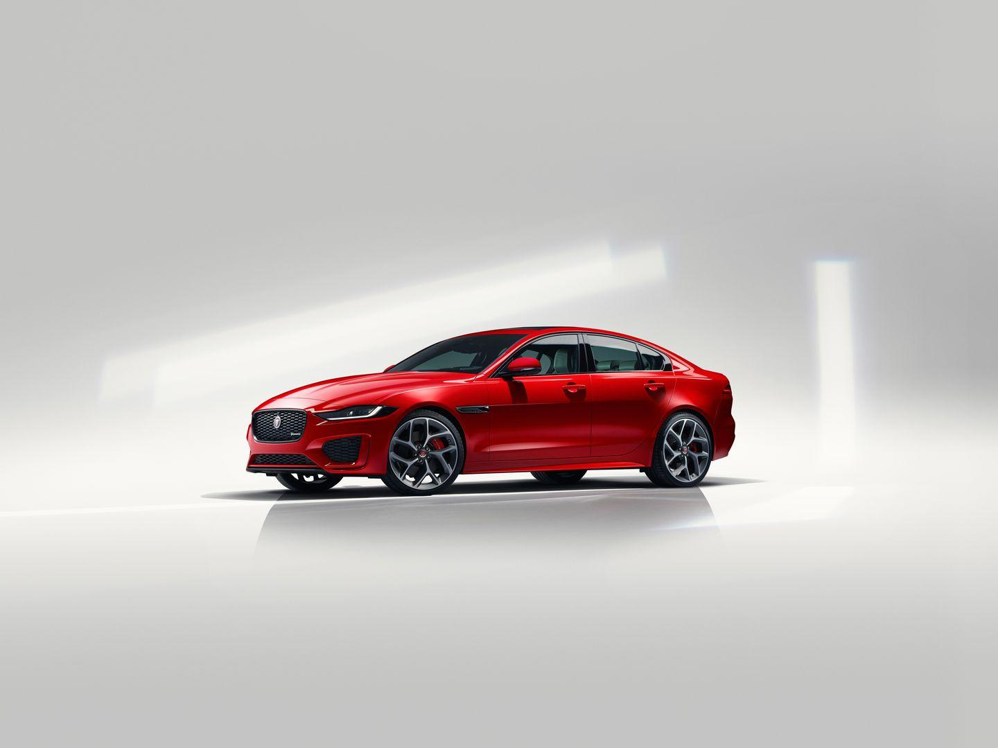 """<p>The XE has always been a sharp-looking car, but fairly subtle styling changes have actually done a lot to improve the look of the XE and keep it looking up to date. LED headlights with a more modern design are now standard, and the LED taillights have been redesigned to align with those of other Jaguar models like <a href=""""https://www.caranddriver.com/jaguar/e-pace"""" rel=""""nofollow noopener"""" target=""""_blank"""" data-ylk=""""slk:the E-Pace"""" class=""""link rapid-noclick-resp"""">the E-Pace</a>.</p>"""