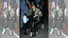 Injured But Kicking, Kangana Ranaut Arrives on a Wheelchair