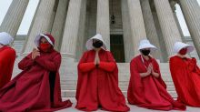 Amy Coney Barrett Confirmation Draws 'Handmaid's Tale' Protesters