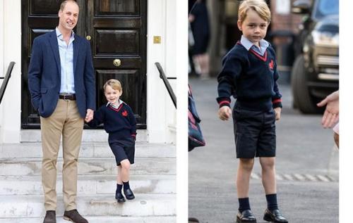 Prince George started school in London last week.