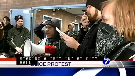 Protesters gather at City Hall, demand police oversight
