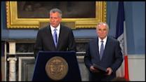 Mayor de Blasio and Police Commissioner Bratton Discuss NYC Shooting