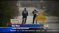 Flooding closes down roadway