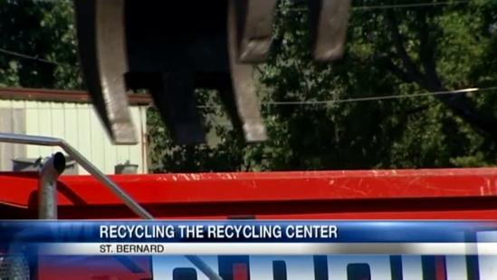 Rumpke recycling burned-out plant before rebuild