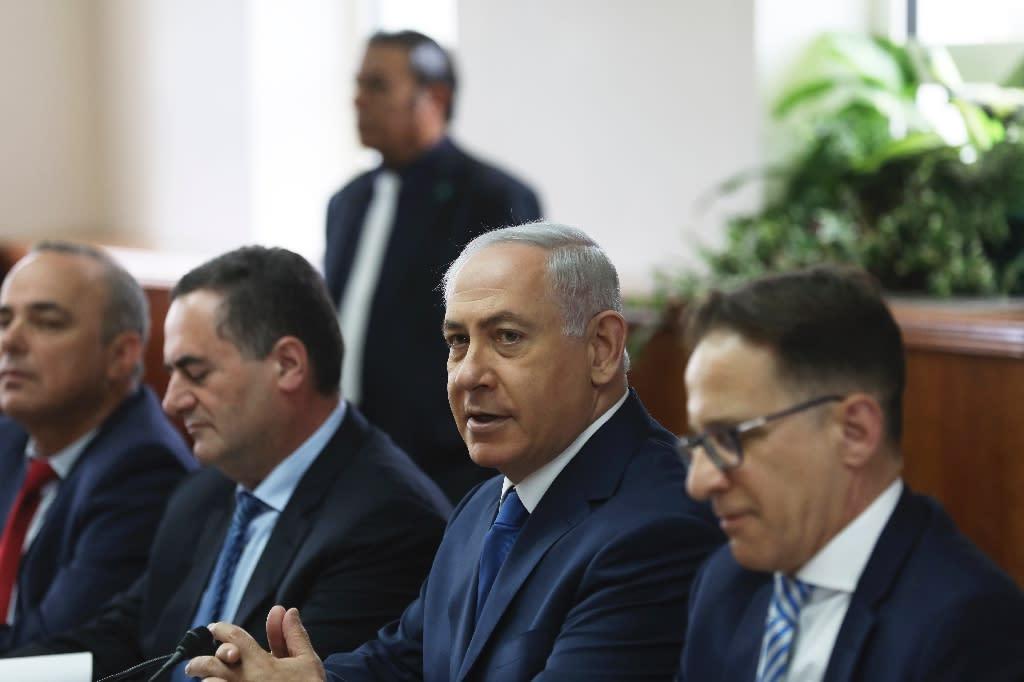 Israeli Prime Minister Benjamin Netanyahu attends a cabinet meeting in Jerusalem May 21, 2017