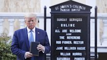 Donald Trump compared to Winston Churchill by White House following photo of president with Bible