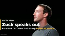 Facebook CEO Mark Zuckerberg breaks his silence about data leak