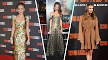 Alicia Vikander takes red carpet style in her stride on 'Tomb Raider' promo tour