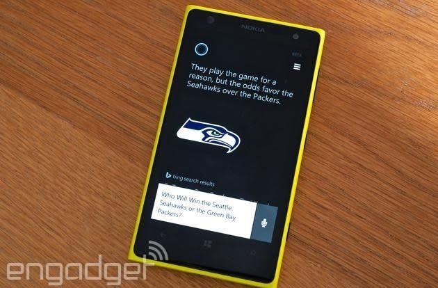 Windows Phone's Cortana assistant now predicts NFL football games