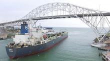 Crude-carrying ship pulls into new Corpus Christi dock