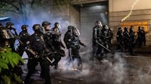 Portland police officers have quit the force's crowd control team after one of the cops was charged with assaulting a protester