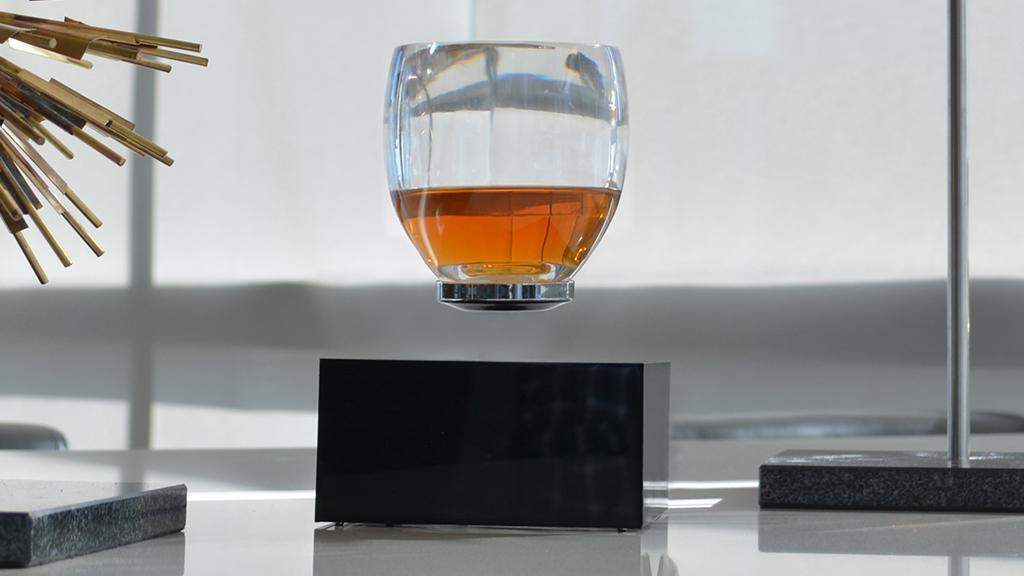 Here's something to lift your spirits: a cup that can hover.