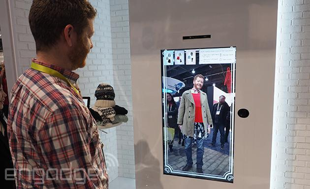 Toshiba's Virtual Fitting Room doesn't have menswear