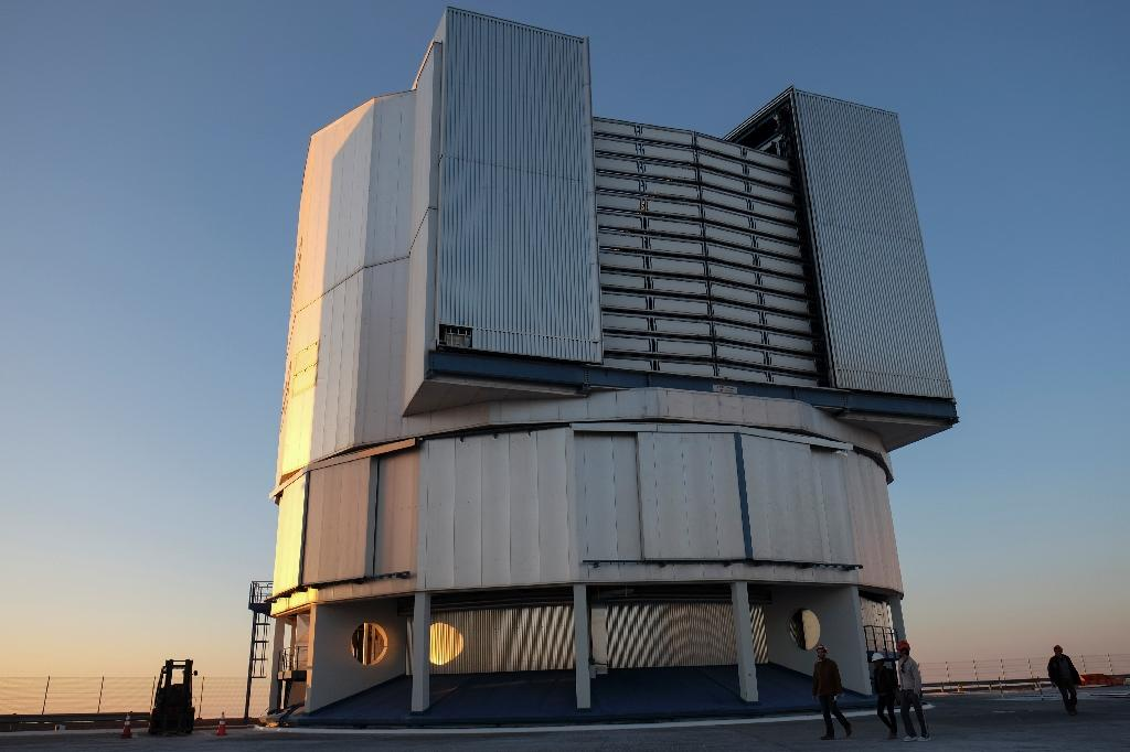 Part of the VLT (Very Large Telescope) in Paranal, about 1,150 kms north of Santiago, Chile, which will search for planets outside our solar system with help from the Espresso spectrograph (AFP Photo/Miguel SANCHEZ)