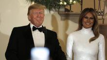 So sieht die Weihnachtskarte von Melania und Donald Trump aus