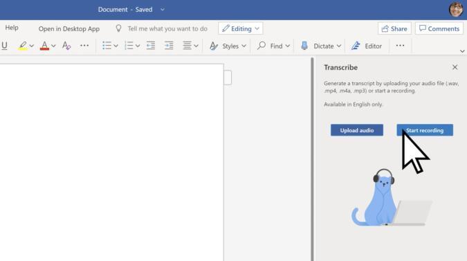 Microsoft Word Transcription