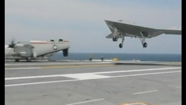Unmanned X-47B jet lands on US Navy carrier