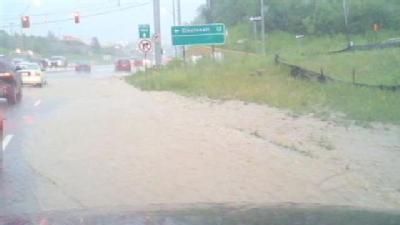 Rain Causes Flash Flooding