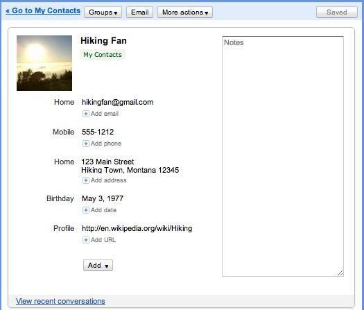 Gmail's Contacts overhauled, general layout tweaked