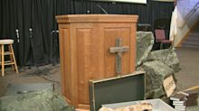 Iowa pastor rigs church with a bulletproof pulpit, a magnetic gun mount, and medical trauma bags