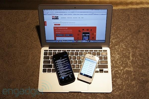Hands-on with TheAppBuilder at SXSW (video)