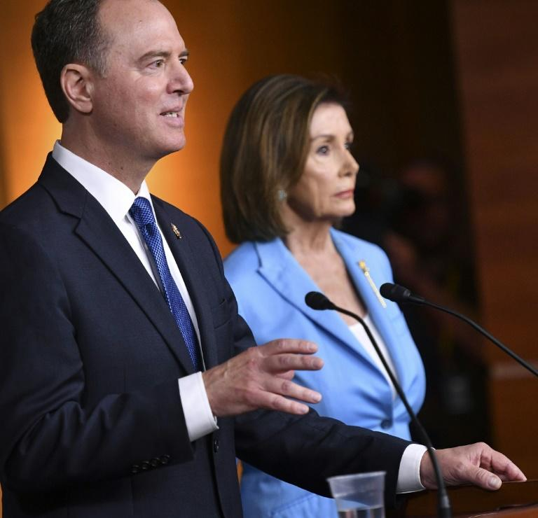 House Speaker Nancy Pelosi, who announced a formal impeachment inquiry against US President Donald Trump, and House Intelligence Committee chairman Adam Schiff have said stonewalling efforts to collect evidence could be deemed obstruction of justice (AFP Photo/MANDEL NGAN)