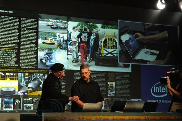 Intel demos Ultrabooks with multitouch displays, games using an accelerometer