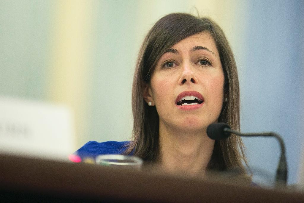 FCC member Jessica Rosenworcel urged a delay in a vote on the plan to roll back regulations on broadband providers pending an investigation of manipulation of the online comments system (AFP Photo/T.J. Kirkpatrick)