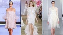 短款婚紗成為新趨勢,新娘們快露出美腿吧!