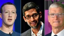 Girding for grilling, Big Tech CEOs stress American roots, values