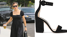 Jennifer Garner wears $1,010 Gianvito Rossi shoes to church — here's how to get the look for less
