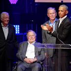 All 5 Living Former U.S. Presidents Gathered In Texas To Raise Money For Hurricane Victims