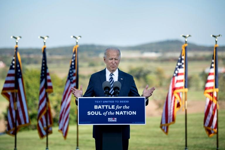 """Democratic US presidential candidate Joe Biden used his speech in Gettysburg, Pennsylvania as a call for unity in a divided America, but also warned that """"forces of darkness"""" were at work in the country"""