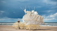 Art and engineering intertwine at ArtScience Museum's Strandbeests exhibition