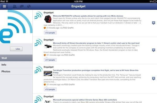 Facebook updates iOS app with Retina iPad support, more languages