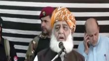 Pakistan now contemplating on how to save Muzaffarabad, says Maulana Fazlur Rehman