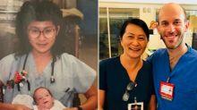 Ella le salvó hace 28 años. Hoy son compañeros