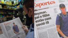 Brasileiros reagem à diagnóstico de Covid-19 de Neymar