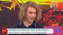 """Manel Navarro, sobre su gallo en Eurovisión: """"Me está afectando mucho"""""""