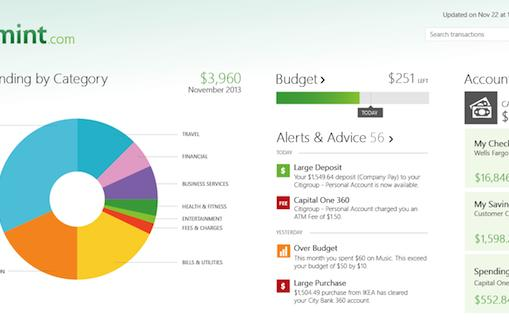 Mint's personal finance app comes to Windows devices with Live Tile support