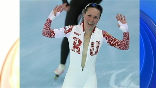 Speedskater Olga Graf Almost Flashes Sochi Crowd