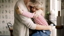 Receiving a hug from a parent is the best way to reassure children, a new study reveals