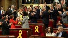 Catalan lawmakers elect pro-independence politician as parliamentary speaker