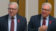 MP collapses while giving emotional speech in parliament