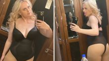 Rebel Wilson strips off to show off 30kg weight loss