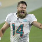 Veteran Ryan Fitzpatrick leads Miami Dolphins to win over Jacksonville Jaguars